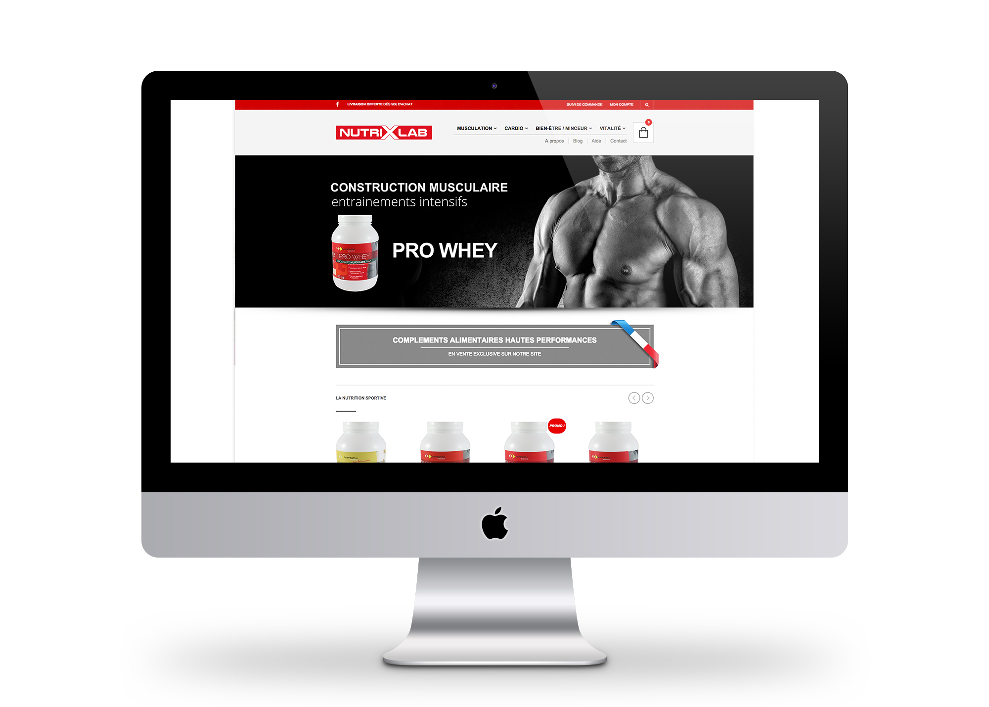 Site marchand ecommerce Nutrixlab